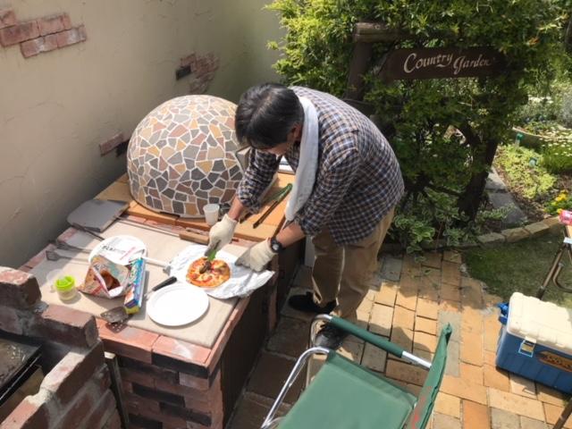 石窯レポート:M様(ドーム型石窯キット「プチドーム+タイルカバー」)